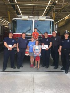 Merrill Family at Fire Station