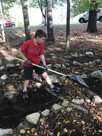 Ryan G Service Project raking